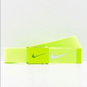 Nike Tech Essentials Volt Green Web Belt